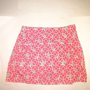 Crown & Ivy Coral Starfish Golf Skirt with Shorts